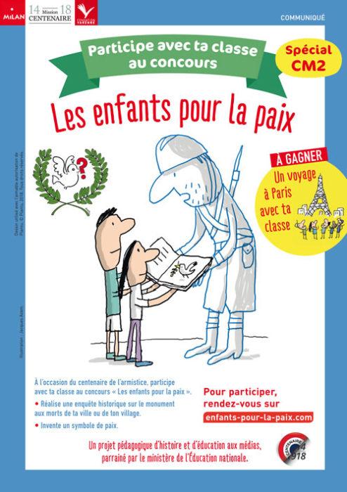 """Affiche """"Les enfants pour la paix"""""""