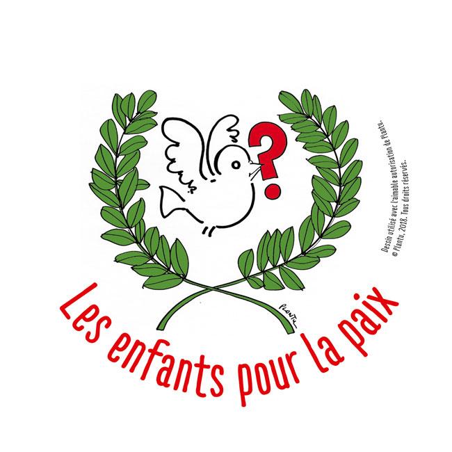 Logo Enfants pour la paix © Plantu